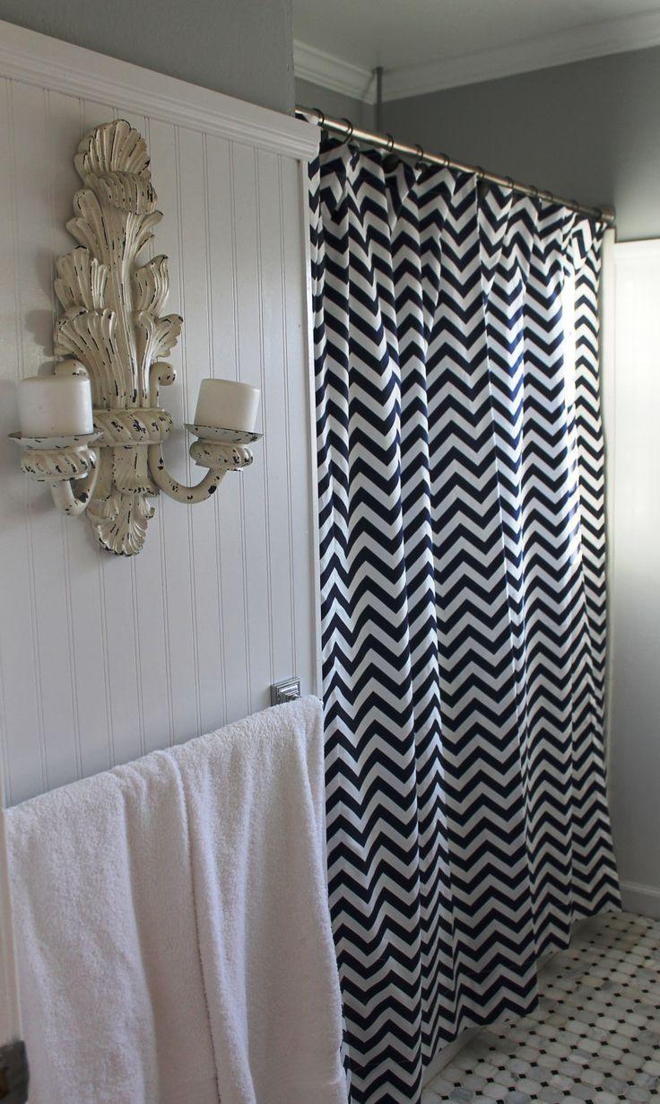 35 best bathroom ideas images on pinterest bathroom ideas black white zigzag chevron shower curtain 72