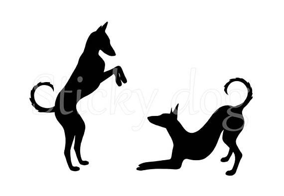 Podenco Ibicenco Silhouet Honden Sticker Great Dogs The