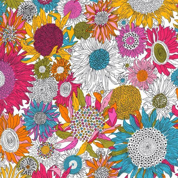 Liberty Tana Lawn Fabric Susannah Rainbow by Alicecarolinesupply, $17.50  window bench fabric