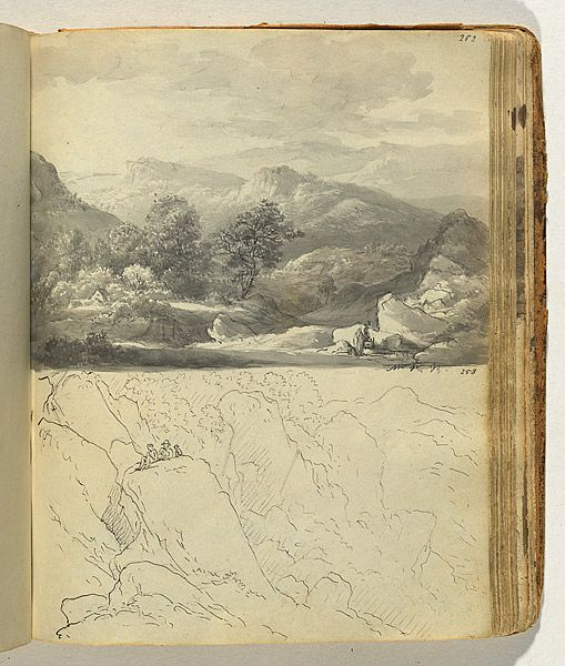 vjeranski:  John GLOVERHoughton-on-the-Hill, Leicester, England 1767 – Deddington, Tasmania, Australia 1849Australia from 1831Matlock(craggy landscape with figures)1802-c.1808
