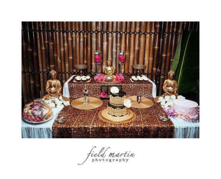 Bali themed 60th birthday