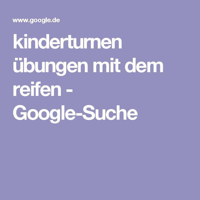 kinderturnen übungen mit dem reifen - Google-Suche