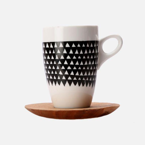 Love Milo - Triangle Mug & Saucer – Black & White