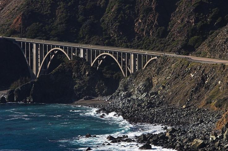 Arch Bridge California Coast Highway 1 Bridges