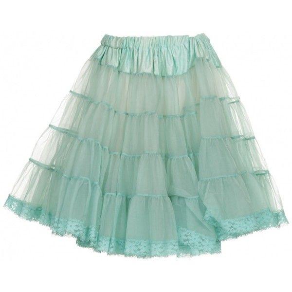 Mint Skirt Petticoat ❤ liked on Polyvore