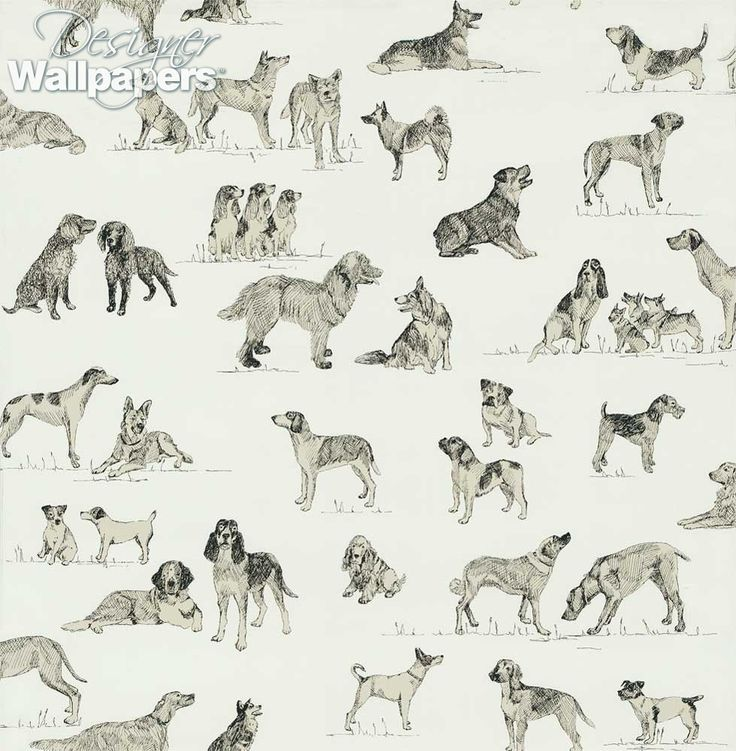 Beautifully sketched black and white illustrations of man's best friend adorn this handsome design.  A pattern filled with a variety of working dogs, this is sure to be a favourite with dog lovers everywhere.
