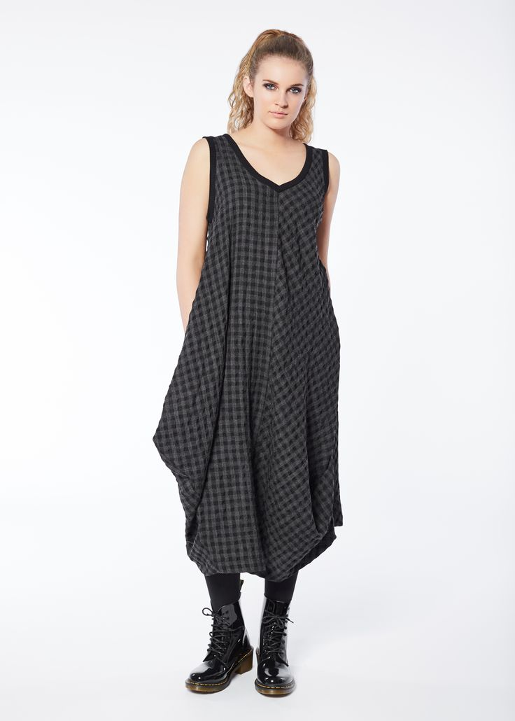 West Side Dress in Charcoal by Euphoria Design