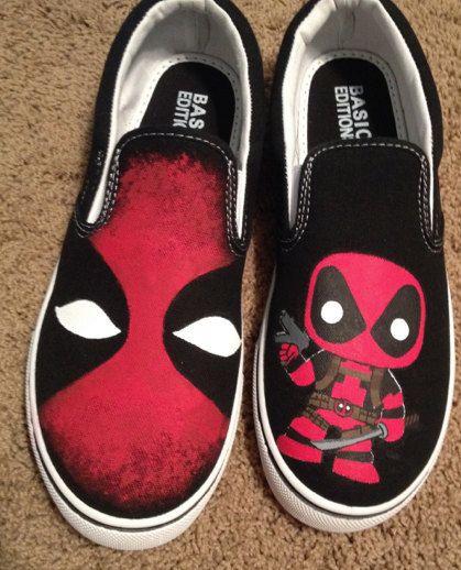 Deadpool Custom shoes by ArtScribbles on Etsy, $44.00