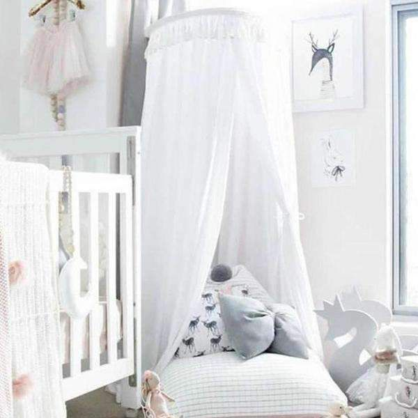 Tassel Decoration Round Dome Princess Bed Canopy White Tychome Mosquito Net Baby Mosquito Bed Princess Roo With Images Nursery Canopy Kids Bed Canopy Kids Bedroom Decor