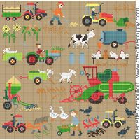 On the farm (large pattern)