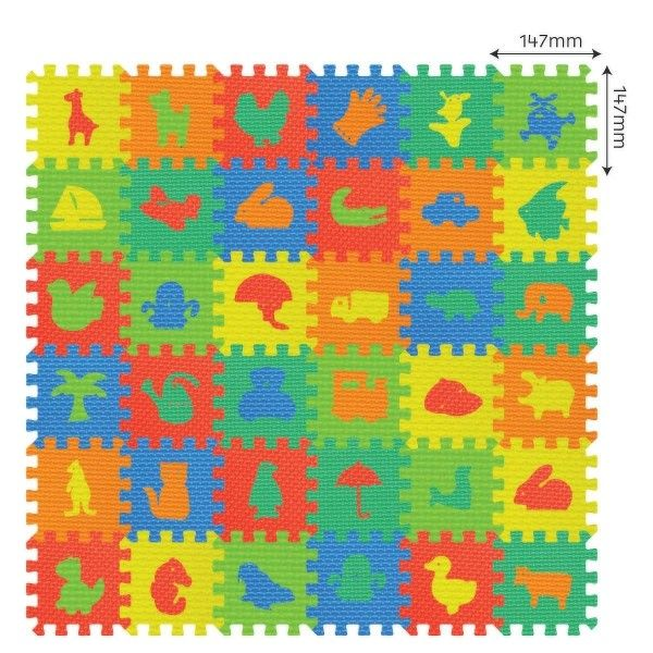 MaDe Pěnové puzzle - Koberec mix obrázků - 36 ks, SUPER CENA 219,-- Kč #vánoce #dárek #narozeniny #svátek #nejmenší #hračky #oslava #děti #rodina #3dmámablog.cz
