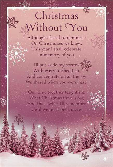 Celebrating Christmas in memory of you...