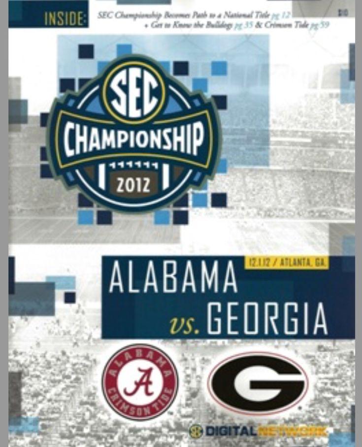 2012 SEC Championship, Media Flip-card - Alabama vs Georgia  #Alabama #RollTide #Bama #BuiltByBama #RTR #CrimsonTide #RammerJammer #CFBPlayoff #NationalChampionship #CFBPlayoff2018