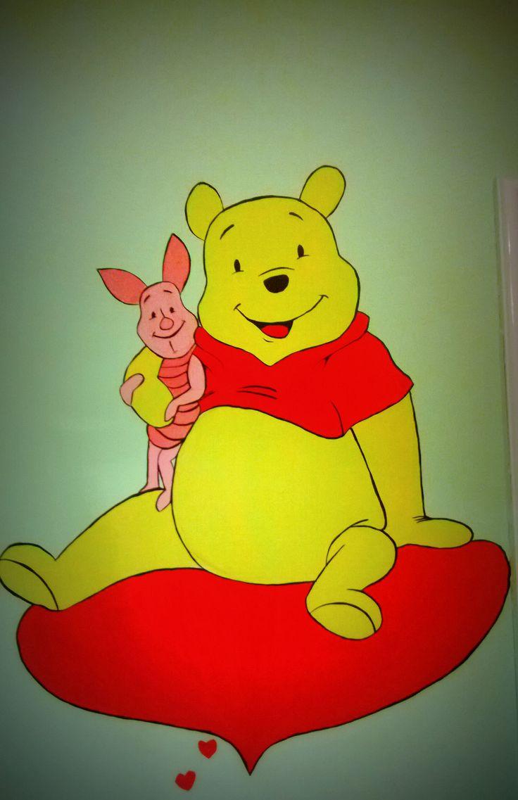Winnie and Piglet - wall painting  #disneyroom #kids #winnie #piglet #love