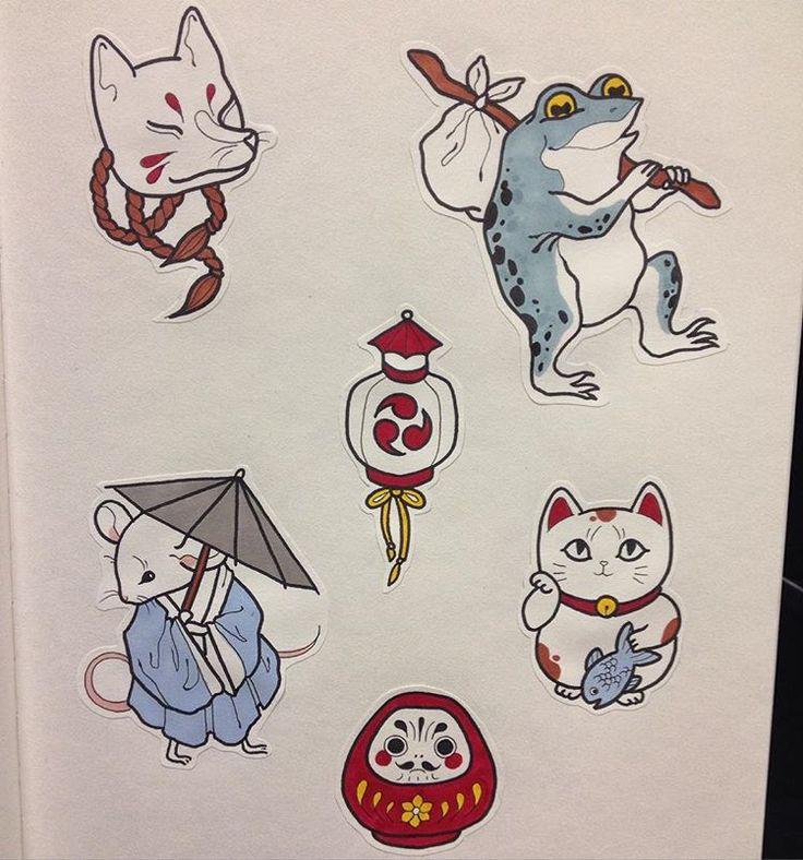 Kawaii vibes ❣ #Kitsune #darumadoll #lantern #manekineko #mouse #japan #kawai