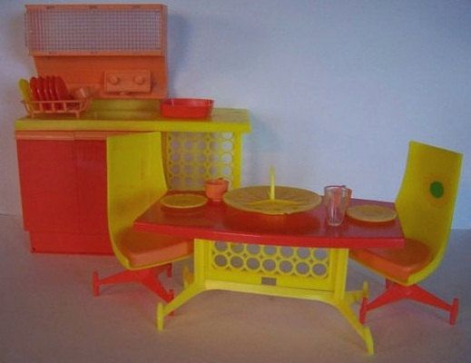 Vintage DAWN Doll KITCHEN and Dining Room Fits by CelwinsCloset