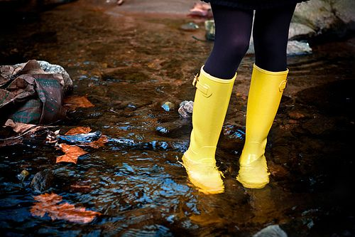 I don't know why, but I've wanted yellow rain boots for the longest time!