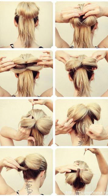 hairstyles: DIY Big Floppy Hair Bow Tutorial...