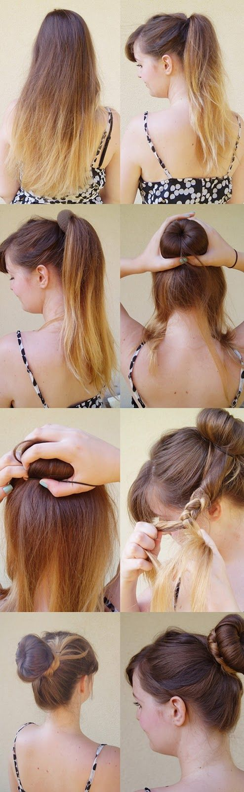 Nothin' Fancy. Really.: Easy hairstyle tutorial: The Braided Donut Bun. <3 http://nothinfancyreally.blogspot.com/2013/07/easy-hairstyle-tutorial-braided-donut.html