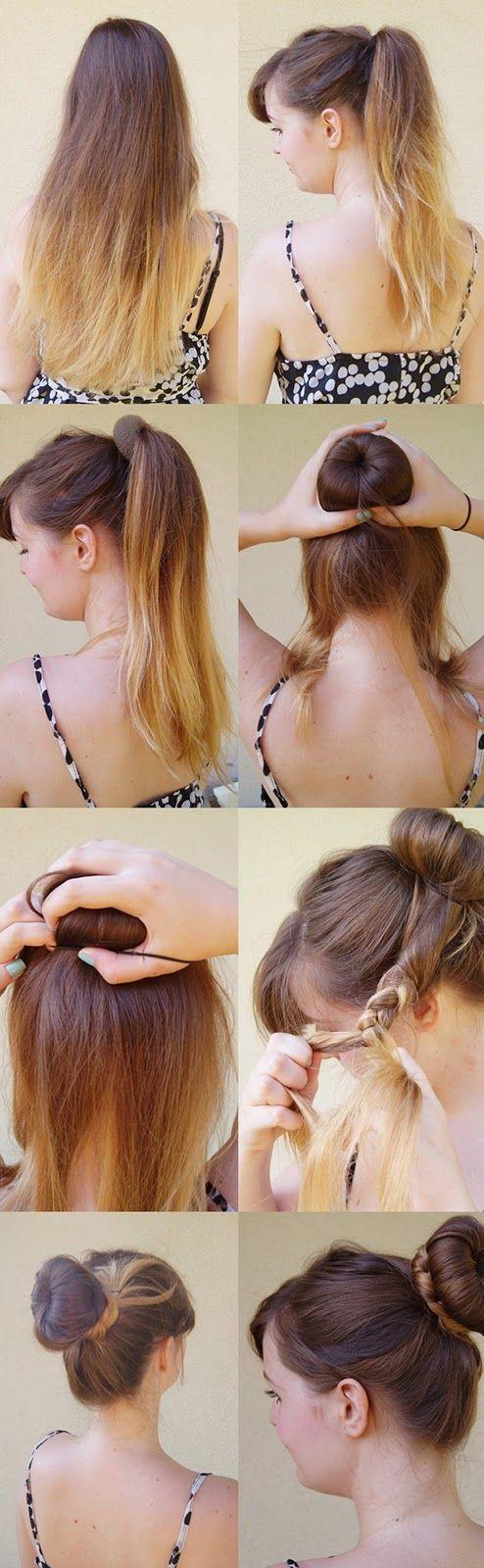 Fine 1000 Ideas About Donut Bun Hairstyles On Pinterest Donut Bun Short Hairstyles For Black Women Fulllsitofus