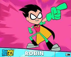 Robin- Selfish, team leader, (hots for Starfire), epic fighter, and Batman's sidekick!!!