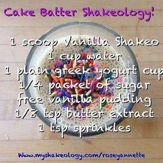 shakeology recipe