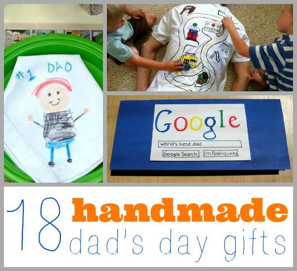 Here are 18 cute and functional handmade dad day gifts that the kids can make!