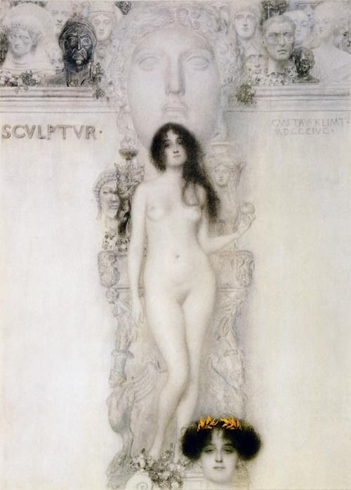 Gustav Klimt (1862-1918) - Drawing for the allegory Sculpture, 1896