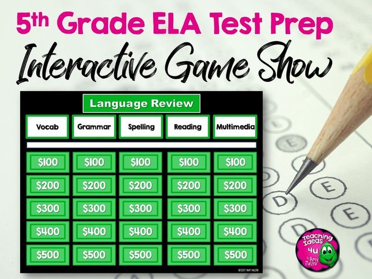 Is your class reviewing for the FSA, AIR, or other state test? This 5th grade ELA resource includes two sets of paired texts, a Game Show in PowerPoint, and a pdf file of the same questions. The educational game has five categories, spelling, grammar, vocabulary, reading, and multimedia. There are a total of 30 questions, 6 questions in each category. The paired passages are on grade level and written in test format. $