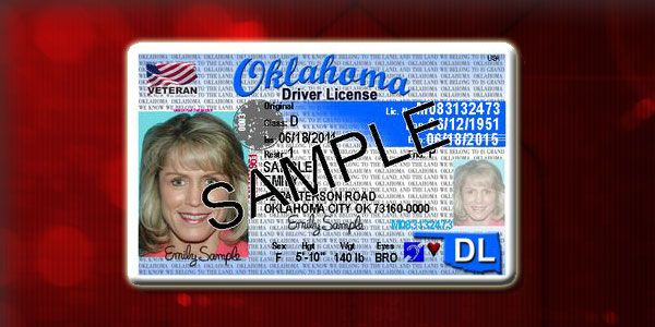 Awesome! New Oklahoma License Sample. The new law will allow veteran's driver licenses to have a special American flag emblem in the upper left hand corner with the word 'veteran' underneath to show their veteran status