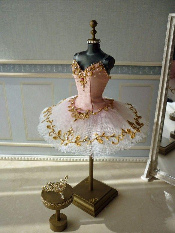ミニチュアチュチュ/ A miniature tutu handmade/ Miniature Ballet Costume/'Don Quixote' Dulcinea