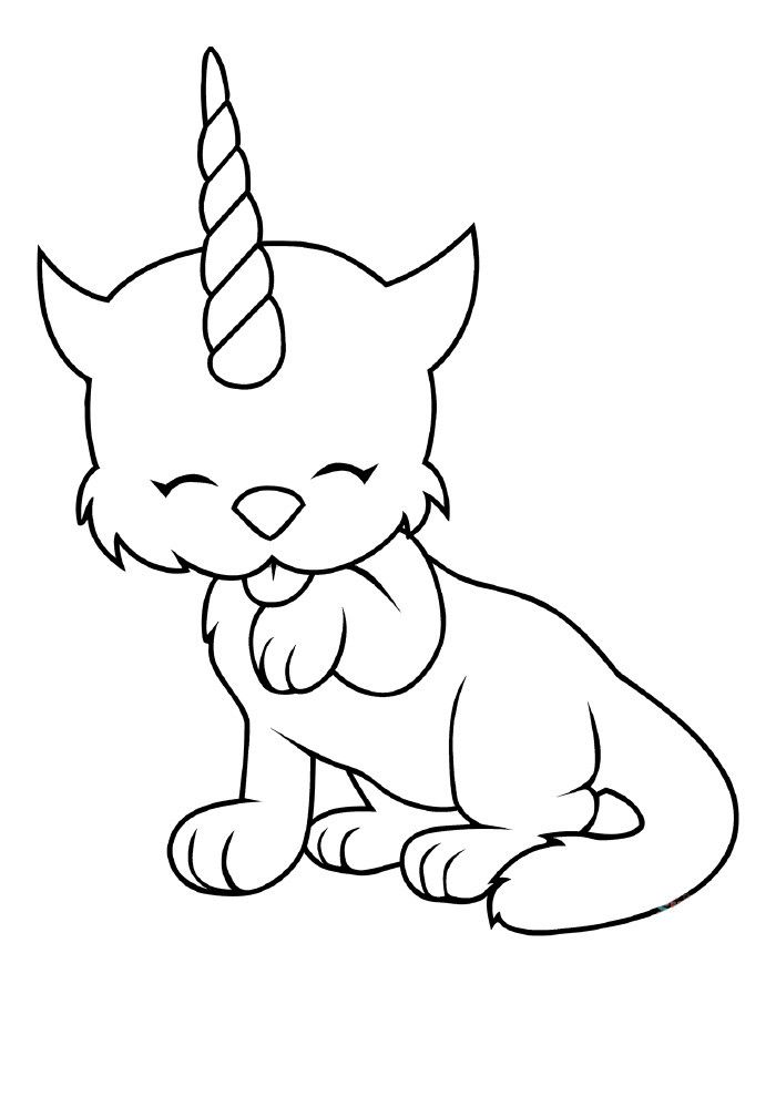 Easy Coloring Pages Kitty Coloring Cat Coloring Page Shape Coloring Pages