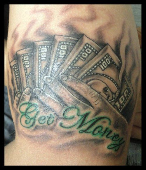 17 best images about money tattoo designs on pinterest for Money tattoo sleeve