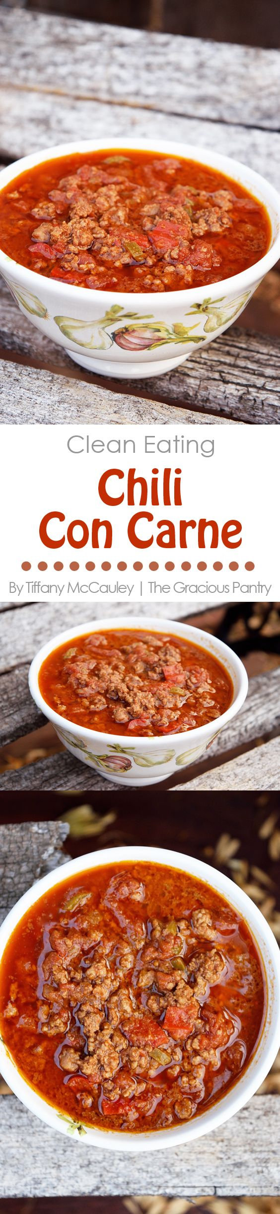 Clean Eating Recipes | Chili Con Carne Recipe | Healthy Chili | Dinner Ideas ~ https://www.thegraciouspantry.com