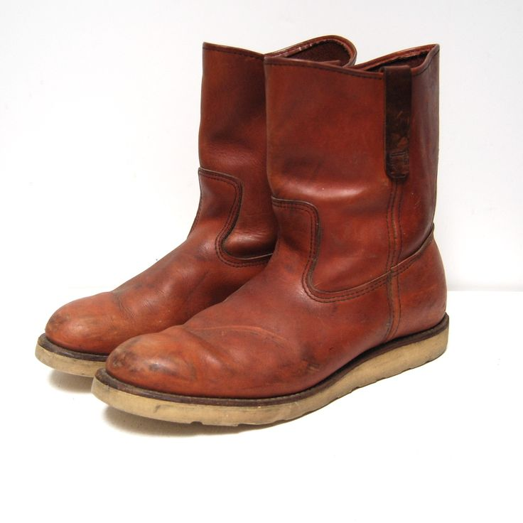 vintage COGNAC irish setter RED WING pecos boots made in U.S.A. ...