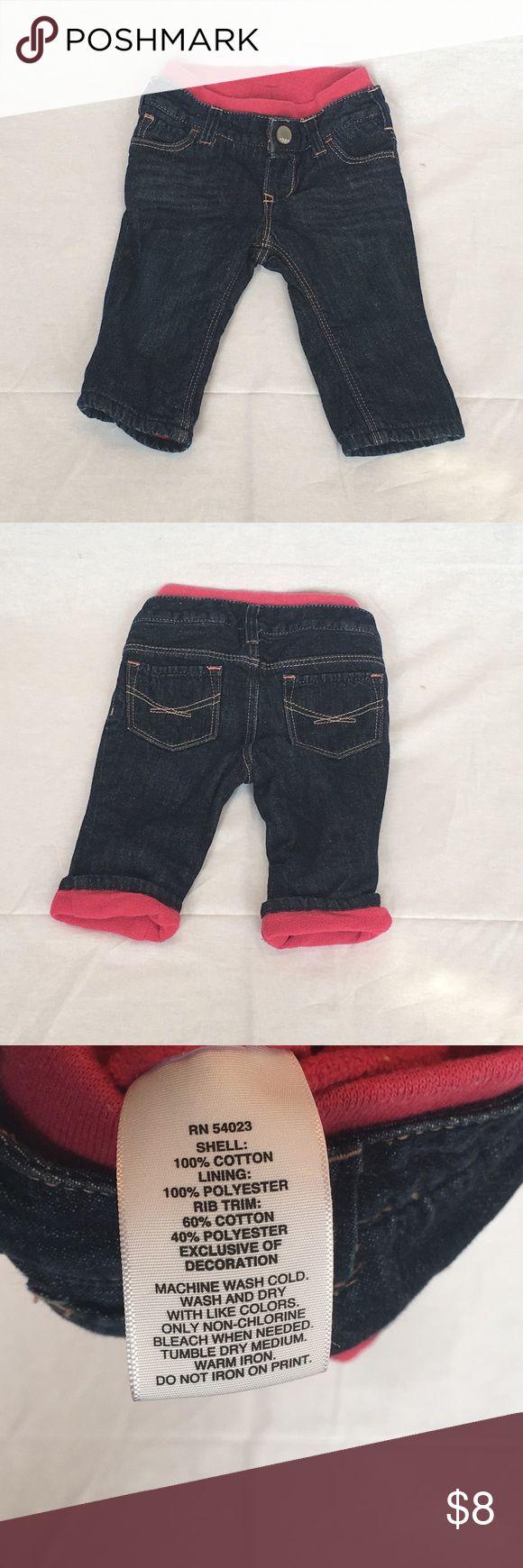 Baby Gap Kids fleece lined jeans Baby Gap Kids girls fleece lined dark wash denim jeans GAP Bottoms Casual