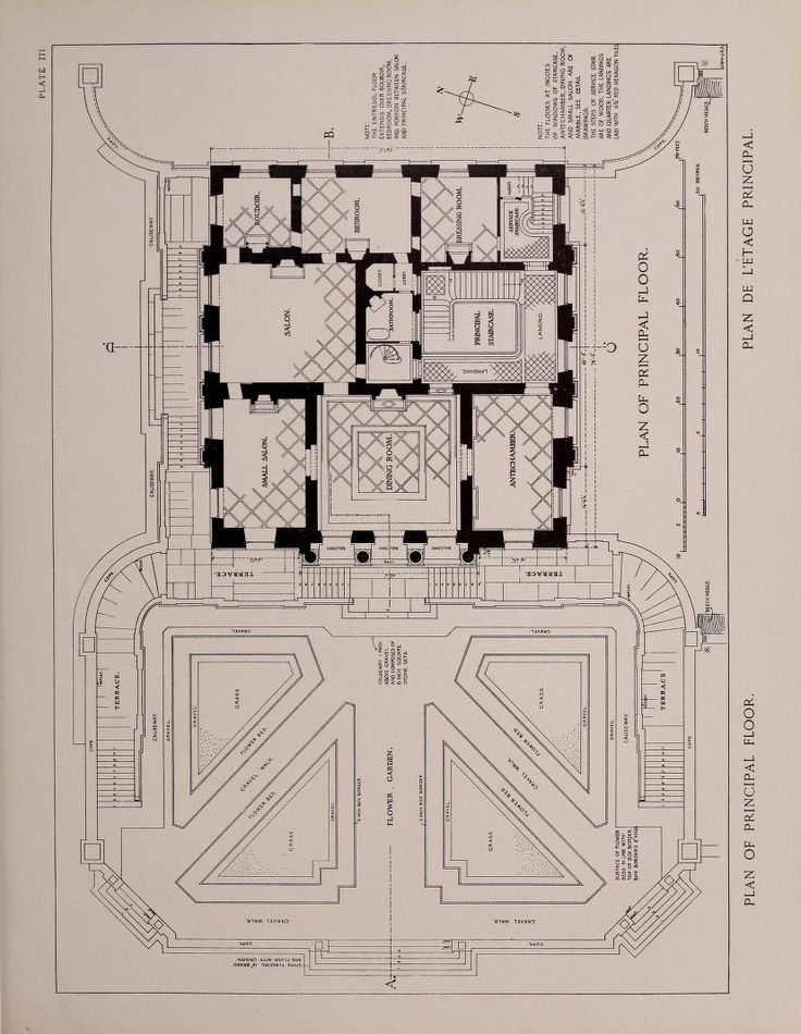Le Petit Trianon plan of the principal