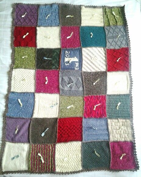 Blanket Stitch Knitted Squares Together : 115 best images about Knitted squares blanket on Pinterest Knitting, Free p...