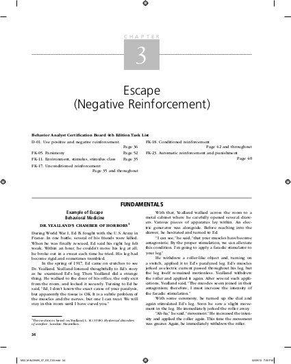 Escape 9 (Negative Reinforcement)