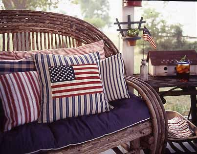 Flag Pillows Stars Hearts And Stripes Forever