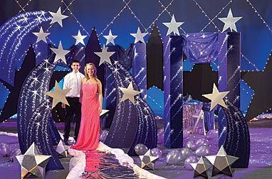 Bring some classic elegance to your prom with a star themed event. Stumps Prom has plenty of beautiful star themed decorations for your starry night.