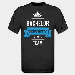 vrijgezellenfeest mannen Bachelor Security Team T-shirt