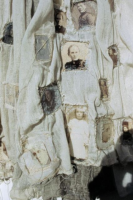 fabric with old photos by louise richardson