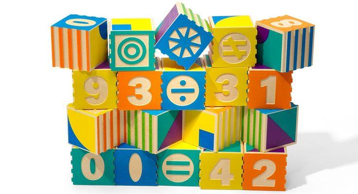Uncle Goose - Groovie Math & Patterning Blocks Shop Online - iQToys.com.au