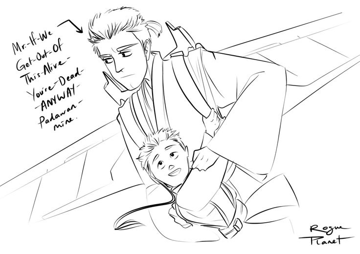 "dyingsighs: ""That one time Obi-Wan had to rescue 12 year old Anakin from an illegal lift-wing race in a Coruscanti garbage pit ~ Rogue Planet (x) "" 