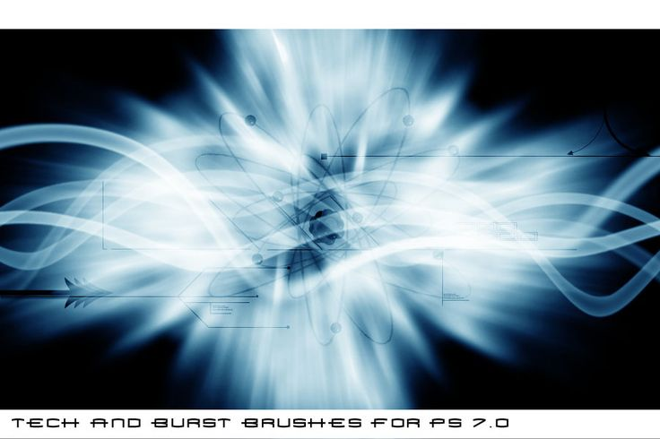 Tech Burst Graphics Effects Brushes
