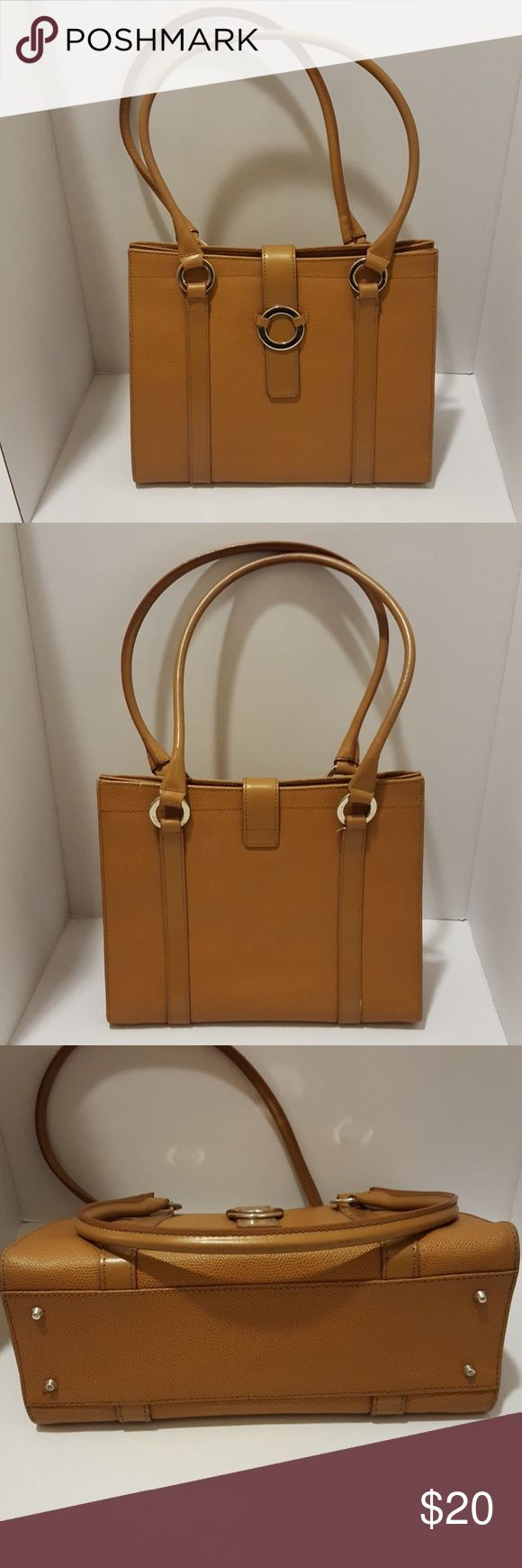 Nordstrom Leather Handbag Purse Nordstrom Brown Leather Purse Made in Italy. Like New, used once or twice. Some wear on handles from age and storage as shown in last picture. Nordstrom Bags Shoulder Bags