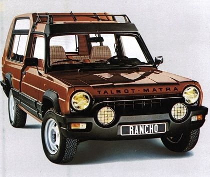 Talbot-Matra Rancho..The profits from this vehicle alone allowed Matra to put the Renault Espace into production in 1984