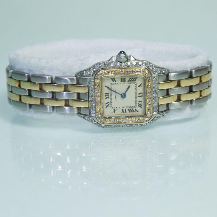 ladies-cartier-panthere-mini-18k-gold-steel-two-tone-vintage-diamond-watch-1ct #ohsoperfectproposal #engagement #ring #proposal #ido #marryme #diamond #bling #weddingring #engaged #💍 #ringbling #ringselfie #theknotrings #jewelrylover #diamonds #engagementphotos #proposals #18kgold #cartier #tiffany #cartierlove #brides #happilyeverafter #xoxo #ringbox #fiancé #jewelleryoftheday #newyork #symphonygirl #daydate #rolex #rolexwatch #rolexdaydate #rosegold #oro #bracelet #bracelets #gold…