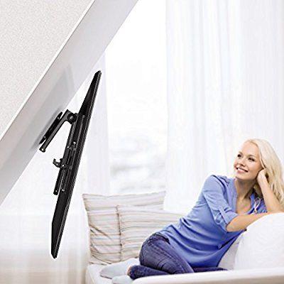 Hama Deckenhalterung TV (schwenkbar, neigbar, klappbar, höhenverstellbar, Halterung für Fernseher mit 48 - 117 cm Diagonale (19 bis 46 Zoll), bis 20 kg) schwarz